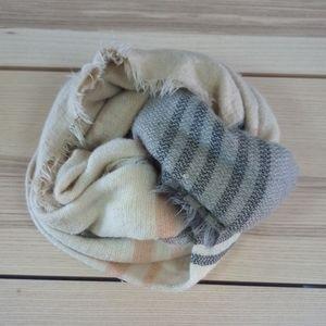 ☕2/$25 Large blanket scarf